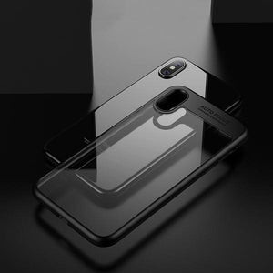 Luxury Clear Acrylic 360 Full Protective Phone Case for iPhone X