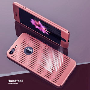 Ultra Thin 360 Full Protection Heat Dissipation Case For iPhone + FREE Screen Protector Film