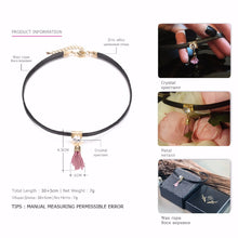 Load image into Gallery viewer, Trendy Chic Tassel Charms Tattoo Choker