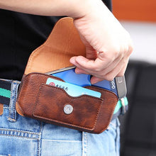 Load image into Gallery viewer, Leather Phone Holster Phone Bag