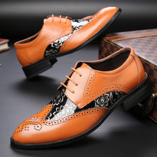 Load image into Gallery viewer, Microfiber Leather New Brogue Oxford Men Shoes