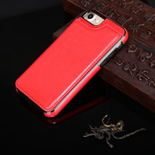 Luxury Leather Flip Covers Hidden Card Stand Phone Case