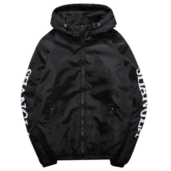 Zip Up Letter European Sporty Men's Jacket