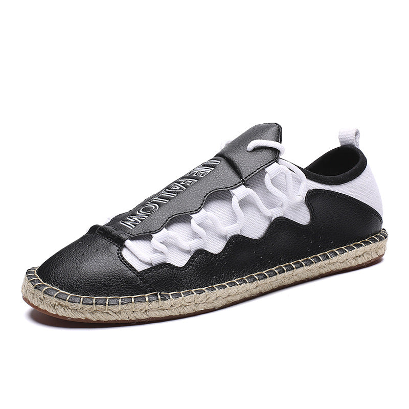 Multi Purpose Weaving Patchwork Men's Casual Shoes