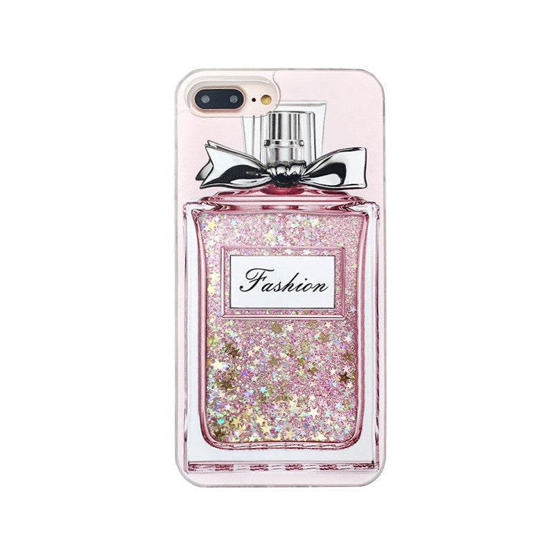 Pink Bling Perfume Bottle Phone Case For iPhone