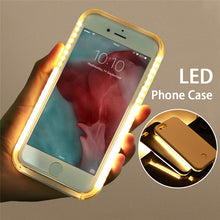 LED Flash Selfie Light Case Shells Cover For iPhone And Samsung