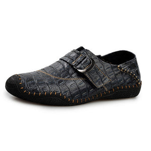 New Crocodile Pattern Leather  Men Moccasins