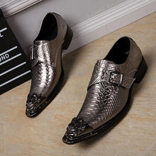 Load image into Gallery viewer, Italian Wedding Business Oxfords Men Monk Dress Shoes