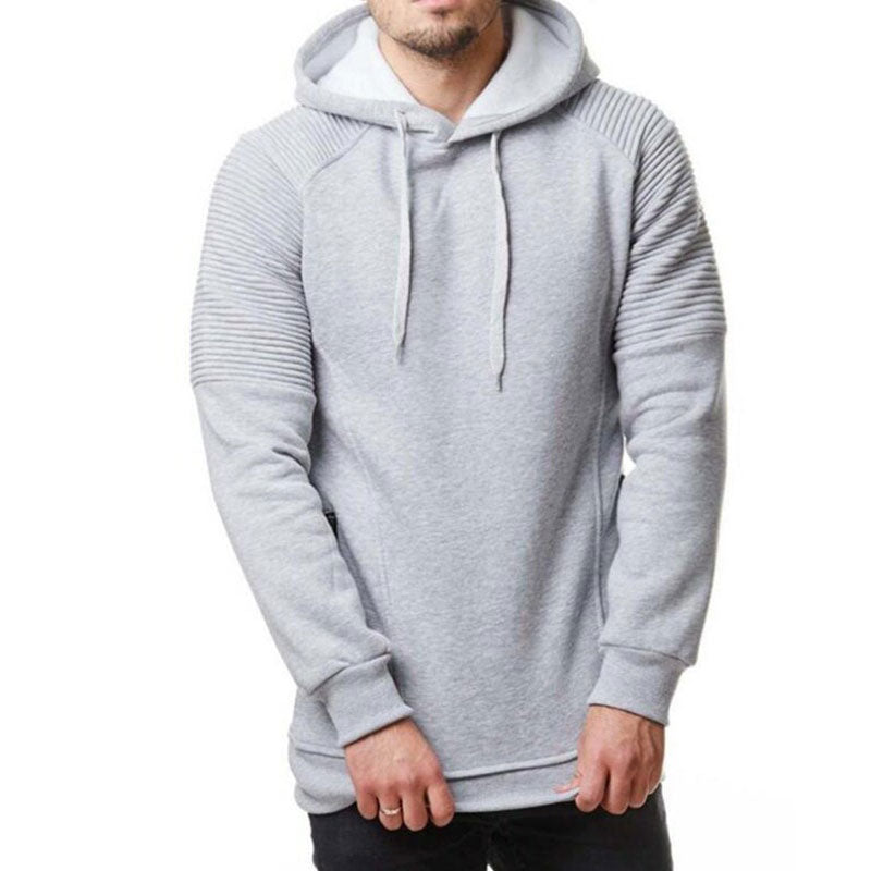 Men's Solid Color Large Size Hoodie