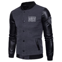 Load image into Gallery viewer, Autumn and winter stitching baseball uniform jacket