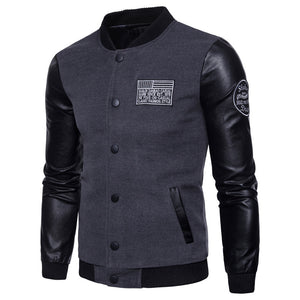 Autumn and winter stitching baseball uniform jacket