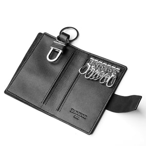 Genuine Cow Leather Car Wallet Multi Function Key Case Bag
