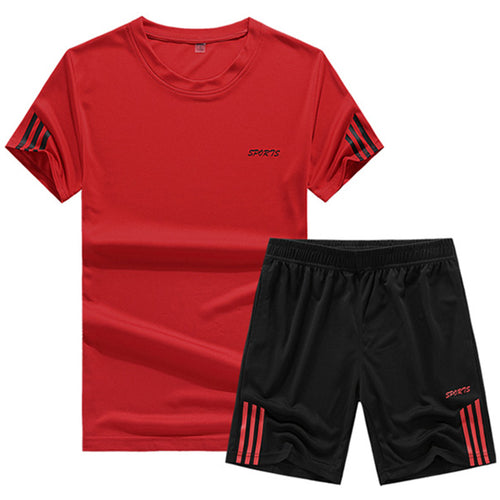 Summer leisure loose quick-drying running men's sports suit