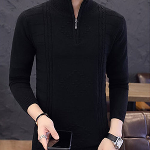 Slim Pure Colo Long Sleeve Cotton Men's Sweater