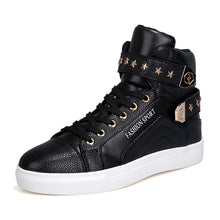 Load image into Gallery viewer, Chain Man Made PU Velcro Men's High-Top Sneakers