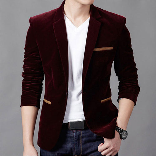 New Fashion Men's Slim Fit Stylish Casual One Button Suit Coat Jacket Blazers