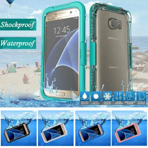 Phone Accessories-Waterproof Swimming Diving Plastic + Silicone Phone Case for Samsung