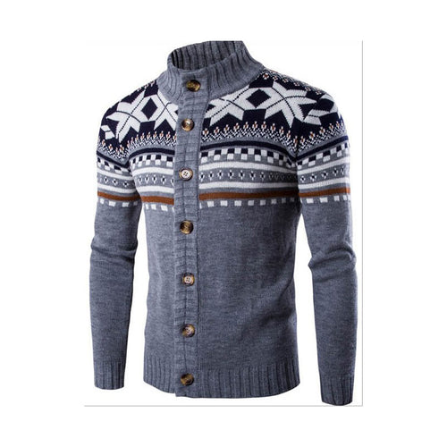 Men's Slim Fashion Print Sweater