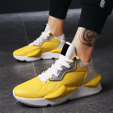 Load image into Gallery viewer, Round Toe Leather Wear-Resisting Breathable Men's Sneakers