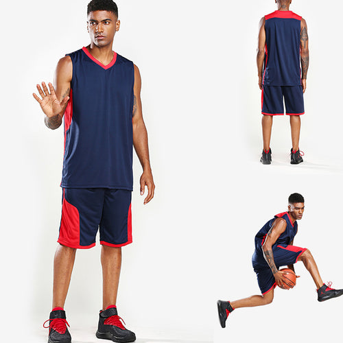 Stitching solid color men's basketball uniform