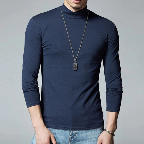 Autumn small high collar men's long sleeves