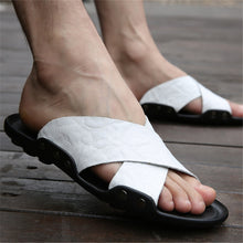 Plus Size Beach Pu Leather Breathable  Men's Sandals