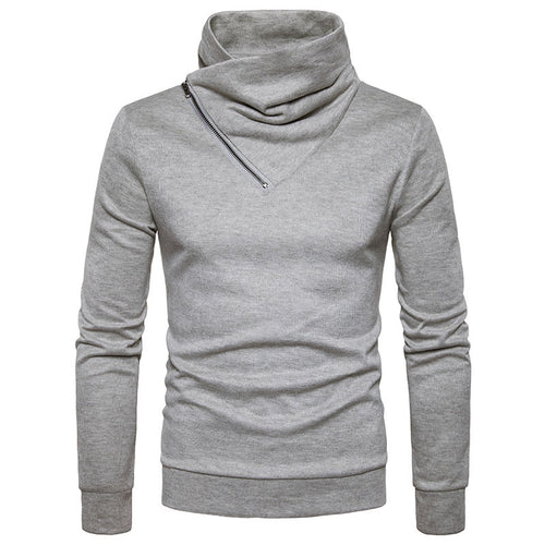 Neckline Long Sleeve Men's Sweater