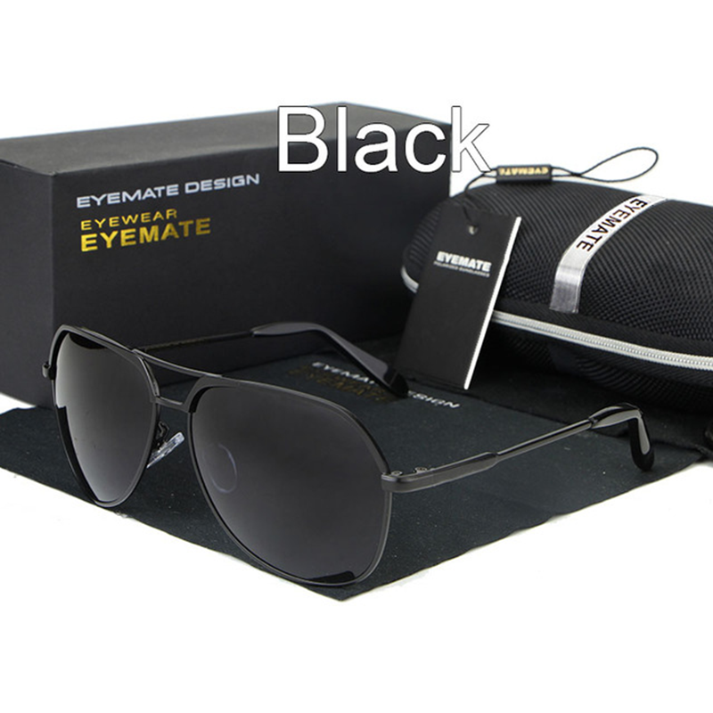 Metal Polarized Men Reflective Sunglasses