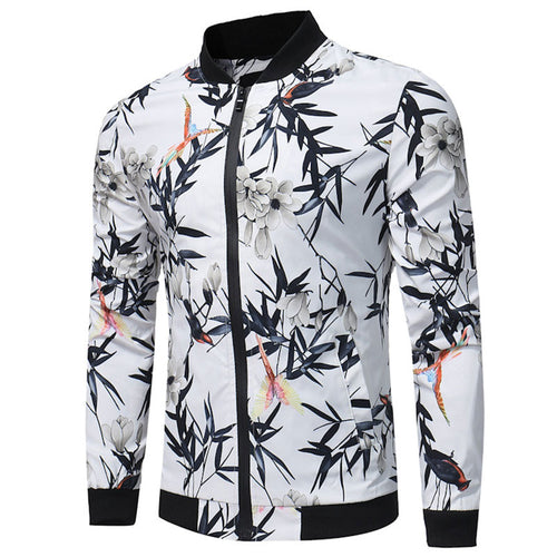 Printing Nylon Casual Hit Color Men's Jackets Coats