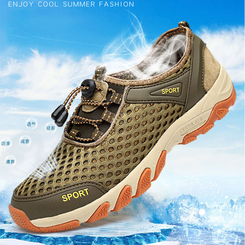 Large Breathable Rubber Sole Men's Sandals