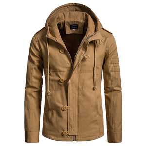 Autumn And Winter New Men's Hooded Cotton Jacket