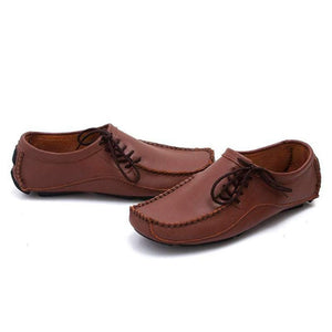 Shoes-Men's Genuine Leather Breathable Slip-on Loafers