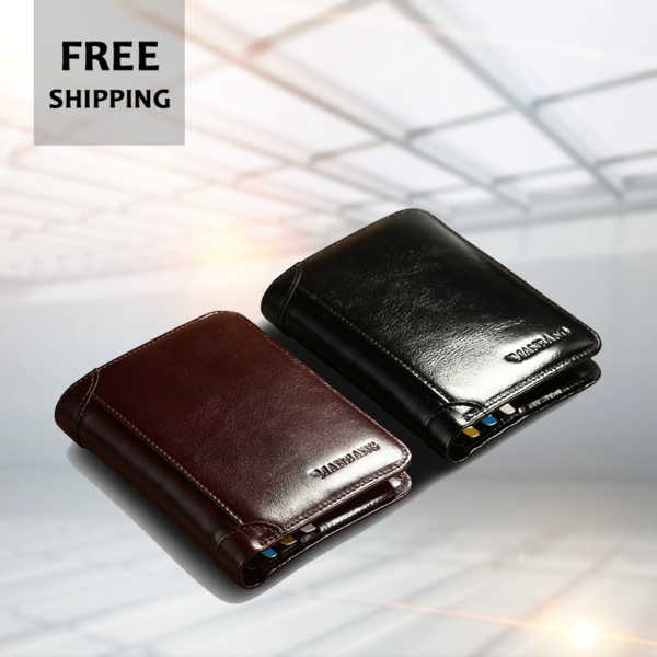 Hot Sale Genuine Cow Leather Men Wallets