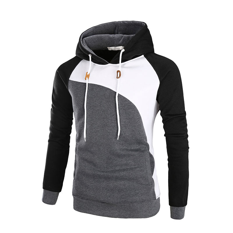 c8ee5d5bae957 Plus Size Hooded Color Block Polyester Men s Sweatshirt – catcas