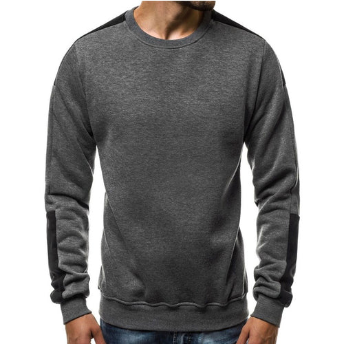 Colour Matching Velvet Arm Men's Sweatshirt