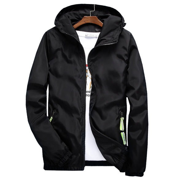 Zippered Slim Pocket Long Sleeve Men's Jacket