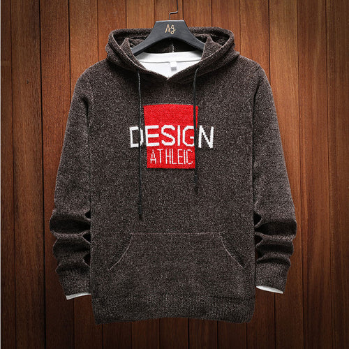 Loose Fashion Hooded Letter Men's Sweater