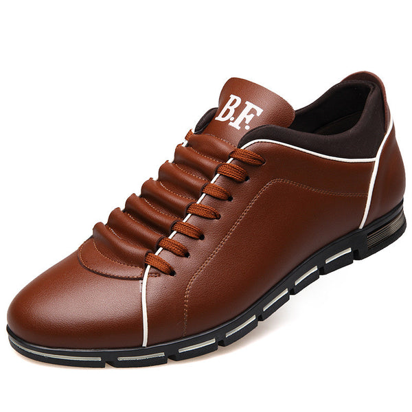 Plus Size Soft Bottom Lace Up Men's Casual Shoes