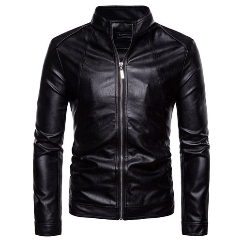 Men Leather Jacket Autumn Winter Fashion Motorcycle Style Male Business Casual Coat Western Men's Cowboy Jackets