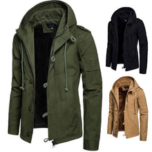 Load image into Gallery viewer, Autumn And Winter New Men's Hooded Cotton Jacket