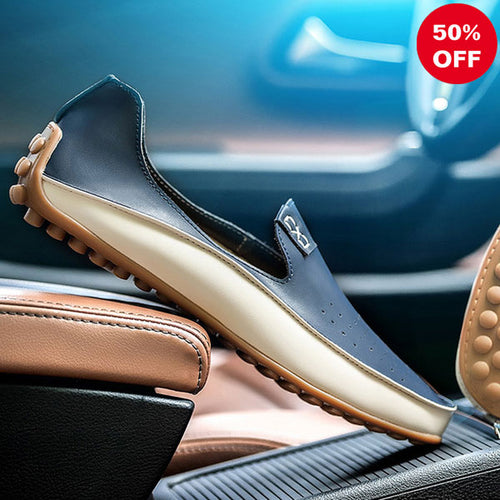 High Quality Leather Flat Bottomed Men's Casual Shoes