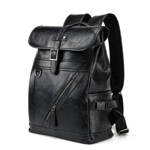 NEW Men's Fashion PU Leather Backpack & Travel Bag