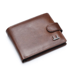High Quality Genuine Leather  Men Wallets With Coin Pocket