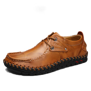 Vintage Lace-Up Men Casual Shoes