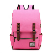 Retro Canvas College Student Backpack Leisure Backpack Travel Bag Computer Bag