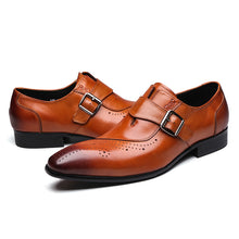 Load image into Gallery viewer, New Genuine Leather Mens Formal Brogue Dress Shoes