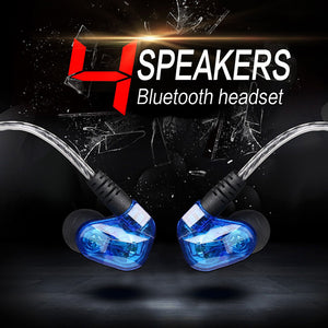 Dual Dynamic Driver Stereo Wireless Bluetooth Earphone With Mic