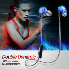 Load image into Gallery viewer, Dual Dynamic Driver Stereo Wireless Bluetooth Earphone With Mic