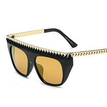 Load image into Gallery viewer, Sunglases-2017  Gold Chain Big Frame Fashion Star Style Sunglasses UV400