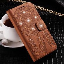 Load image into Gallery viewer, Leather Diamond Stand Wallet Cover For Samsung